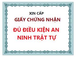 Hồ sơ cấp giấy phép an ninh trật tự tại Đà Nẵng
